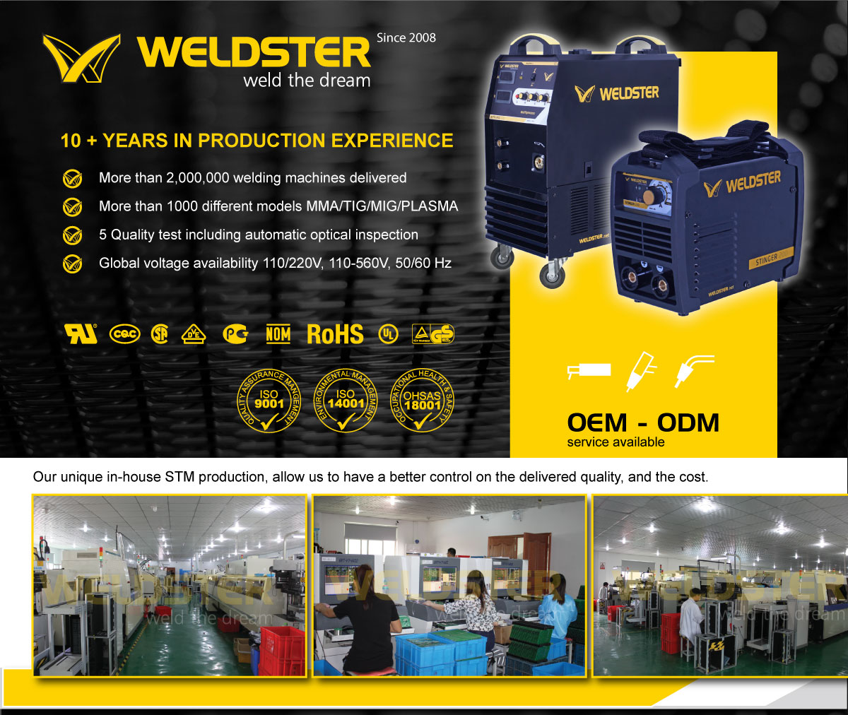 Weldster product range description